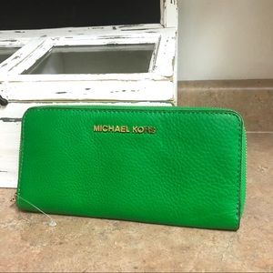 Michael Kors Palm Green Saffiano Leather Wallet